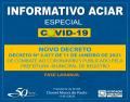 Notícia: Decreto Nº 3.077 de 11 de Janeiro de 2021