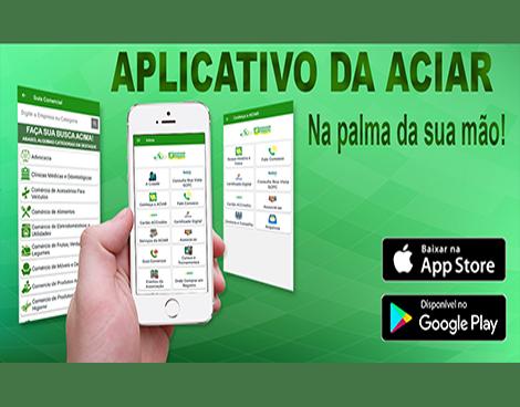 Notícia: App da ACIAR pode ser acessado pelo celular