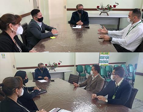 Notícia: Presidente da ACIAR recebe representantes do Sicredi e Bradesco