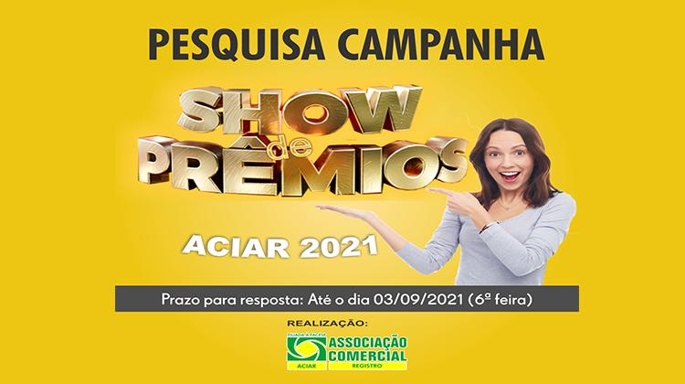 Notícia: Empresário, participe da pesquisa Campanha Show de Prêmios 2021